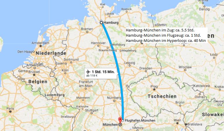 Google Maps Hyperloop Train