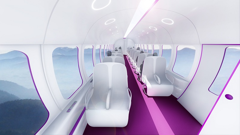Hyperloop in economy class (Picture: TransPod)